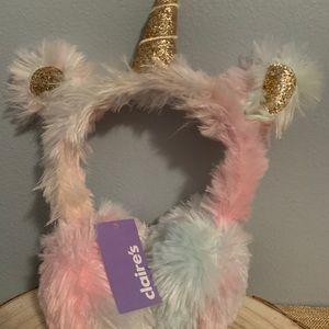 Claire's Unicorn Ear Muffs